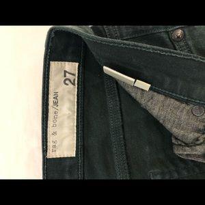 Hunter green rag and bone jeans